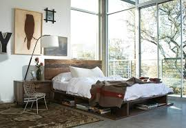 leather chaise lounge living room modern with modern bed