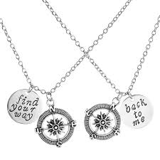 silver flower statement necklace images Top plaza 2pcs set silver tone quot no matter where jpg
