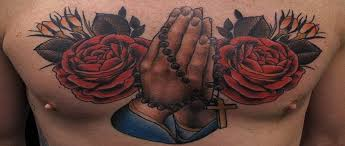 39 praying tattoos with personal expression of faith
