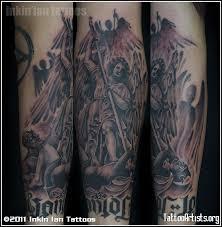 amazing group angels vs demons tattoo artists tattoomagz