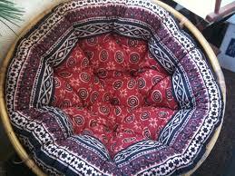 furniture bohemian pattern papasan cushion ikea for home