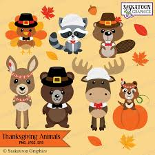 thanksgiving woodland animals instant file