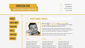 Online Resume Example by Homely Design Resume Site 9 Online Resume Website Template
