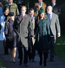 the queen kate middleton and prince william attend royal church
