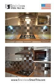 6x6 square stainless steel tile backsplash modern metal tiles