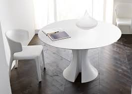 modern white round dining table white round expandable dining table cole papers design amazing