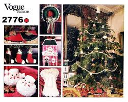vogue 2776 christmas sewing pattern wreath tree skirt ornaments