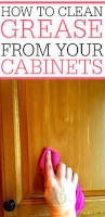 What To Use To Clean Greasy Kitchen Cabinets How To Remove Grease From Kitchen Cabinets Frugally Blonde