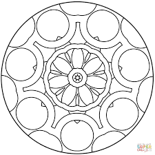 simple abstract mandala coloring page free printable coloring pages