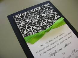 black and lime green wedding invitations wedding party decoration