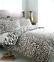 Zebra Bed Set Leopard Print Comforter Set Bed Bath Black Bedding Set