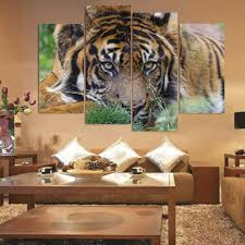 aliexpress com buy 4 panel canvas art canvas painting tiger