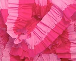 ruffled streamers pink and bombay pink ruffled crepe paper streamers party