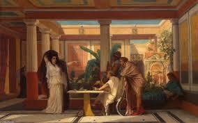 une chambre a rome répétition théâtrale à la chambre d une rome antique poète huile