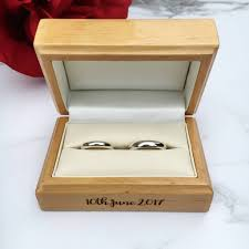 wedding rings in box personalised wedding ring box by laser made designs