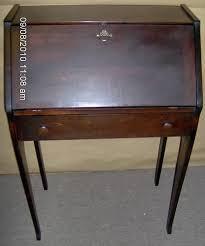 Drop Front Secretary Desk by Vintage Small Mahogany Dropfront Secretary Desk For Sale