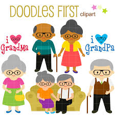 beloved grandparents clip art for scrapbooking card making