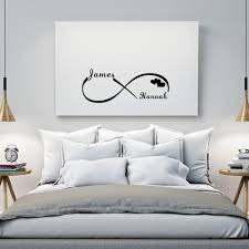 online get cheap customized names wall stickers couple aliexpress custom personalized couple name creative infinity symbol wall stickers vinyl decals art for bedroom decoration