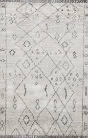 rugsville moroccan beni ourain gray wool rug 12192 5x8 rugsville