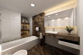 modern marble bathroom designs dark brown color wooden vanities