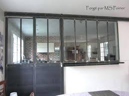 cloison vitree cuisine salon cloison vitree coulissante cuisine salon type atelier d regarding