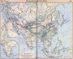 Map of asia 13th century