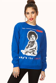 forever 21 notorious b i g fleece sweatshirt you u0027ve been added to