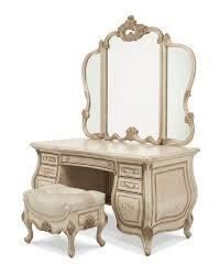 Vanity Mirror And Bench Set Aico Michael Amini Jane Seymour Design Collaboration Platine De