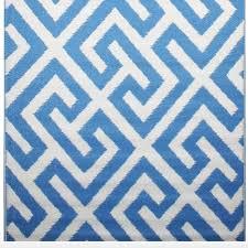 Geometric Outdoor Rug Blue Geometric Indoor Outdoor Rug Allissias Attic Vintage