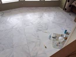 Basement Flooring Tiles With A Built In Vapor Barrier Faux Marble Flooring Hometalk