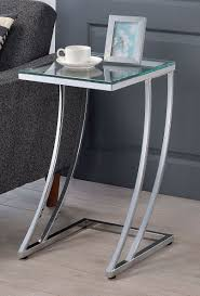 glass top end tables metal modern glass top end table tempered chrome metal base accent side tv