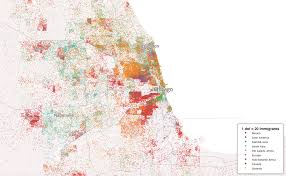 south america dot map all american immigrants on a single dot map geoawesomeness