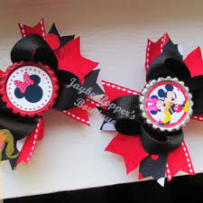 mickey mouse hair bow shop minnie mouse cap on wanelo