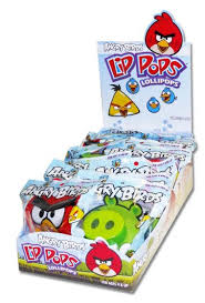 angry bird lip pops 12 box candy favorites