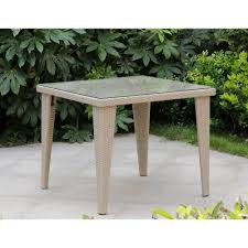tavoli da giardino rattan tavolo da esterno giardino in rattan con vetro mod mafalda cm