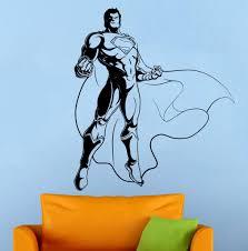 wall decals stickers home decor home furniture diy superman wall sticker vinyl decal comics superhero atr home wall decor 010s