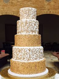 Decorative Cakes Atlanta Extravagant Gold Wedding Cake Wc068 Custom Cakes Wedding Cakes