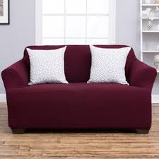 red loveseat slipcovers you u0027ll love wayfair