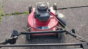 yard machine tecumseh 4 hp side discharge mower youtube