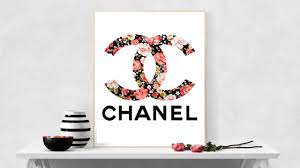 coco chanel floral logo chanel printable chanel party favors zoom