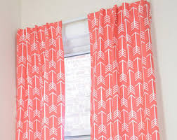 Coral Blackout Curtains Blackout Curtains Nursery Etsy