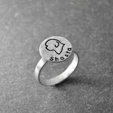custom engraving jewelry sheepdog ring engravable ring custom engraving