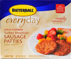 butterball cooked turkey butterball fully cooked turkey breakfast sausage patties calories