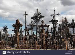 wooden crosses at the hill of crosses the most important