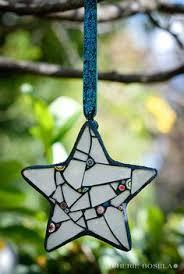 green mosaic ornament glass needle works vitrail
