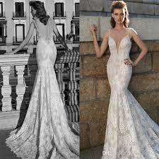 fall 2016 berta bridal mermaid wedding dresses deep v neck