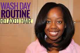 roller set relaxed hair my wash day routine for relaxed hair blackhairkitchen
