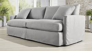 crate and barrel lounge sofa slipcover slipcover only for lounge ii petite outdoor 93 sofa reviews