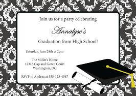 Invitation For Cards Party Graduation Invitations Templates