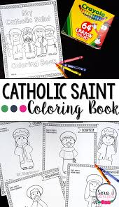 catholic saints coloring books sara j creations